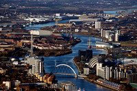 River Clyde, Glasgow from the Air