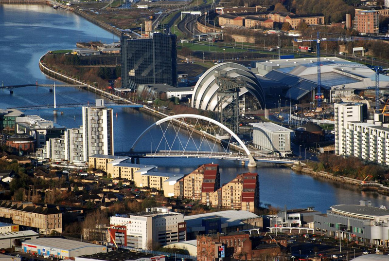 Zenfolio  Vic Sharp  Aerial Photography  Central Glasgow Amp River Clyde